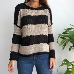 Brandy Melville Striped Wool Sweater top